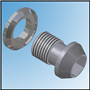 SWINGING ARM BOLT AND SPACER (PAIR)